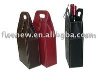 PU leather wine carrier, wine bag, wine gift box