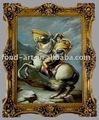 Estilo europeo clásico antiguo marco de fotos, Hechos a mano de la lona pintura al óleo