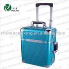 locking aluminum carry chest trolley,aluminum flight case,small aluminum kit