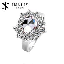 Magnetic platinum wedding ring with diamond LKN18KRGPR215