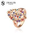 multicolores de cristal bijoux en or réel lkn18krgpr004 18k bon marché