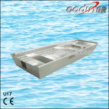 2.0U type aluminum boat for fishing