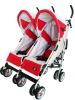 Newborn. twin buggy. twin stroller. side by side stroller.light weight. easy fold. link-brake