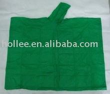pvc green rain poncho