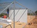 Casas prefabricadas- estructura de acero ligero de la pared de la casa de la instalación