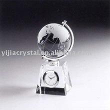 3d Crystal Globe Clock for Desktop Display