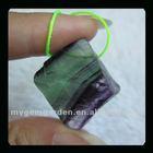 Fluorite Nugget Gemstone Earring