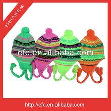 New Jacquard Winter Earflap Hat snowflake winter hat earflap pattern