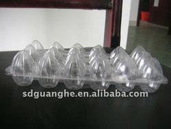 disposable plastic PVC container for quail eggs sat 18 pieces