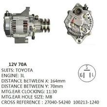 Alternator Toyota 3L (12V/ 70A, 27040-54240)