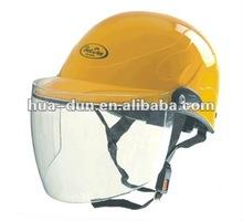 Huadun Half Face Motorcycle Helmet, yellow helmet, HD-328