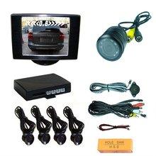 3.5inch monitor parking sensor,video parking sensor with camera