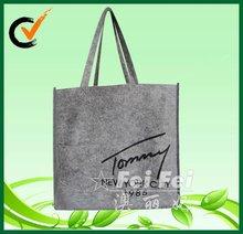 Recycling reusable felt bag with button