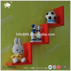 Red MDF wall corner shelf/Decorative Floating wall shelf/home shelf