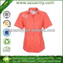 New Fashion Light Pink 100% Nylon Super Light Weight Short Sleeve Women's Dry Fit Shirts