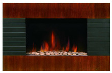Wall Mounted Electric Fireplace(Wooden panel)