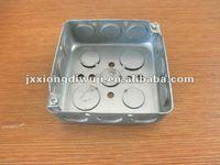 """4""""X4"""" Square Tensile Hot Sales EMT Conduit Box 1-1/2"""" Deep"""