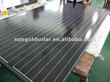 black monocrystalline solar panel 300w with bosch