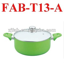 Green Aluminum Ceramic Kitchen Ware