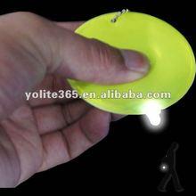 LED Soft Reflector, Reflective LED Tag, LED PVC Keychain