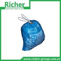 plastic fragrant drawing string garbage/rubbish/trash/refuse/waste bag