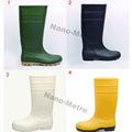 NMSAFETY Botas de lluvia de seguridad de corte alto fabricadas en PVC y estilo colorido