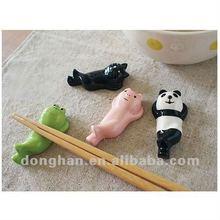 animal design ceramic chopsticks stand