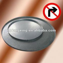Galvanized metal round sign