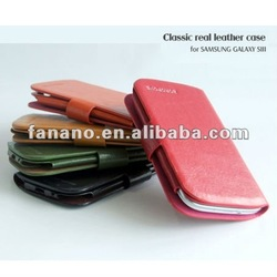 Really Genuine Leather Flip Case for Samsung Galaxy S3 I9300
