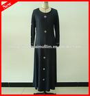 Latest style abaya designs cotton jersey islamic clothing