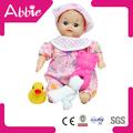 Pequeño recién nacido del algodón del bebé de la muñeca con baño de goma pato de silicona de la muñeca