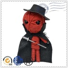 Lovely high quality hot selling customed cute fashion red string voodoo doll