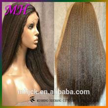 Long Kinky Straight Human Hiar Wigs For African Women