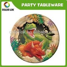 3D dinosaur disposable paper plate
