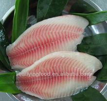 IQF IVP Frozen Tilapia Fish Fillet Seafood