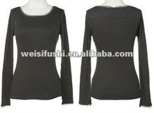 Frauen herbst Baumwolle/elasthan kleid