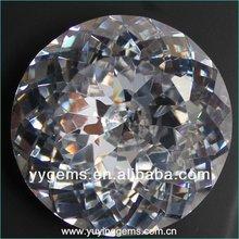White Trillion Cut Round Shape Cubic Zirconia Gemstone