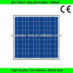 50W poly per watt panel solar