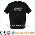 quente vendedor superior lediluminado brilho camiseta