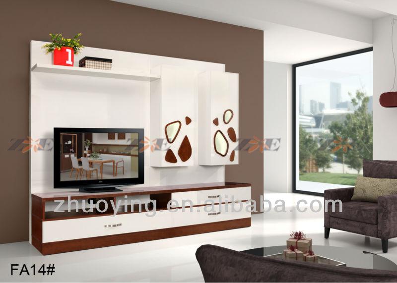 Moderno muebles para el hogar mdf tv gabinete FA14Armarios de madera