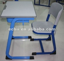 New style school desk and chair/2012 hot sale school furniture