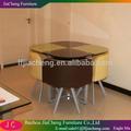 Moderne glas esstisch mit stühlen/( 1+4) esszimmer-sets