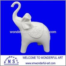 2015 new white ceramic elephant home decoration