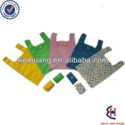 Colorful foldable eco-friendly t-shirt bag