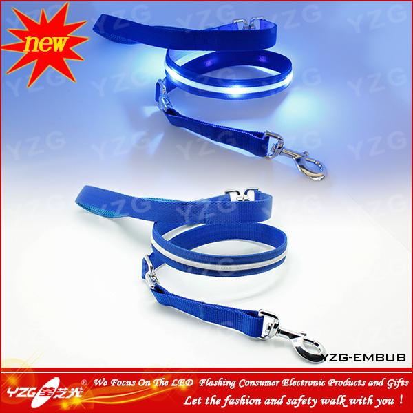 Retractable LED dog leash