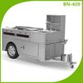 Comercial nuevo de acero inoxidable de alimentos quiosco/carro móvil de alimentos( bn- 620)