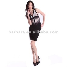 Hot sell and new style V back bandage dress for wholesale 2012