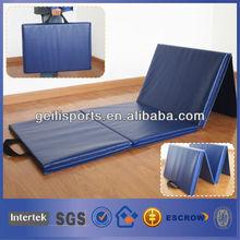 4'x8'x2'' Folding Gymnastics Mat Blue Panel Gym Exercise Yoga Mat Pad Aerobics