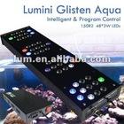 """lumini Dimmable 48"""" CREE 150 LEDs blue moon led aquarium light"""