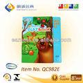 El juego infantil libro con luces led/e- libro( venta caliente)